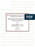 Youth Unemployment Crisis in the UK and Denmark