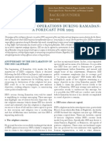 A forecast of the Islamic State's military operations during Ramadan 2015.