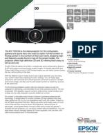 Epson EH TW6100 Datasheet