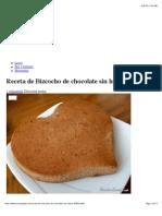 Receta de Bizcocho de Chocolate Sin Huevo - 7 Pasos