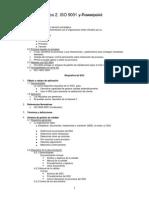 Resumen. Prueba 2. ISO 9001