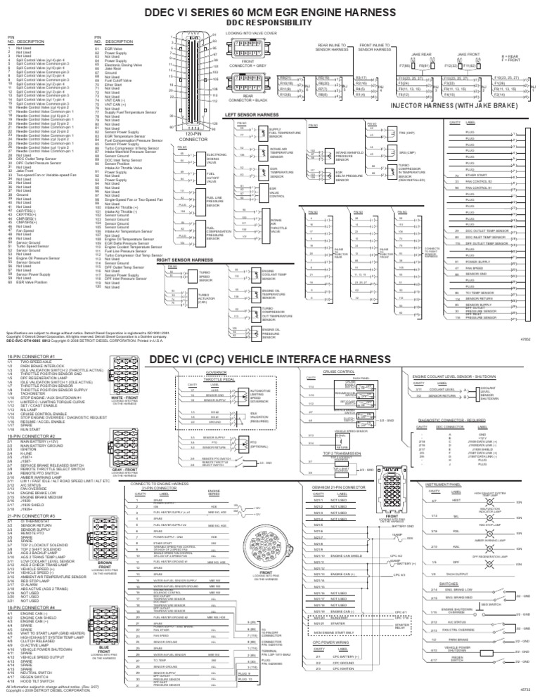 [DHAV_9290]  DDEC VI S60 MCMdad | Throttle | Turbocharger | Ddec 6 Wiring Diagram |  | Scribd