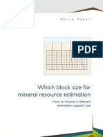 Geovariances WhitePaper Block Size for MRE