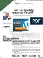 Como Criar Templates Wordpress – Parte 04