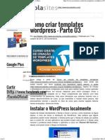 Como Criar Templates Wordpress – Parte 03