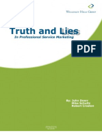 Truth and Lies in Professional Services Marketing