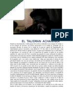 Obra El Talisman Achaninka