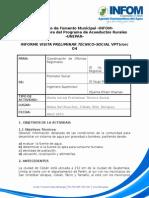 Ensayo de prefactibilidad para un sistema de agua Aldea Sa'Chochoc, Coban Alta Verapaz
