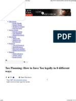 Tax Planning_ How to Save Tax legally in 8 different ways.pdf