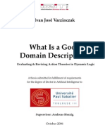 What Is a Good Domain Description? Evaluating and Revising Action Theories in Dynamic Logic