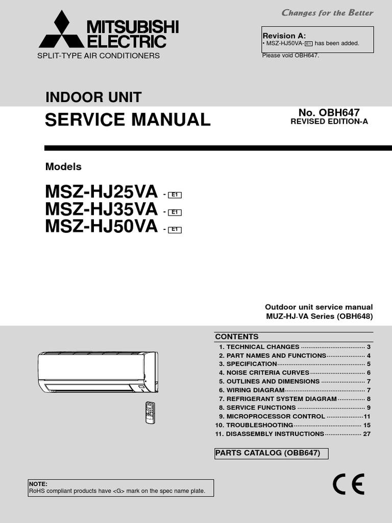 Mitsubishi Electric Msz Hvac Power Supply Wiring Diagram