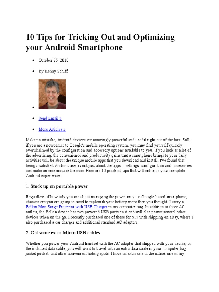 10 Tips for Tricking Out and Optimizing Your Android