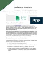 Cómo Crear Formularios Con Google Drive