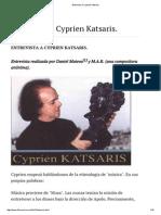 Entrevista a Cyprien Katsaris