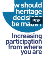 How should heritage decisions be made?
