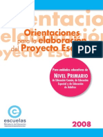 Dx Proyeorientaciones para la elaboración del proyecto escuelacto