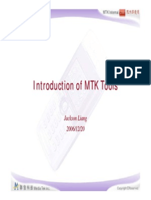 Introduction of MTK Tools V2  pdf | Flash Memory | Booting