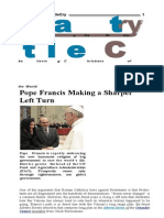 Pope Francis making a sharper left turn, excerpt from Battle Cry.doc