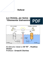 Referat Chimie Elemente Galvanice