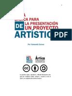 ANOTADA Guía Básica Para La Presentación de Un Proyecto Artístico