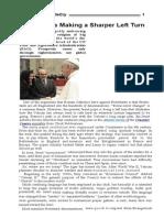 Pope Francis Making a Sharper Left Turn