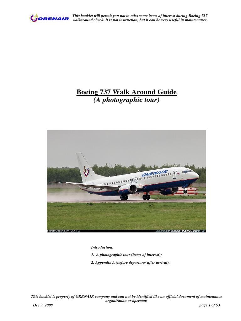 Boeing 737 WALKAROUND BOOKLET pdf | Landing Gear | Tire