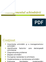 Managementul Schimbarii - 24.03.2008