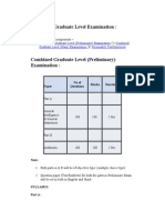 Combined Graduate Level Examination_syllabus