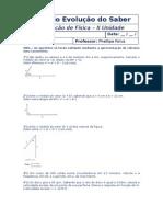 Avaliação de Física - II Unidade - 1° Ano