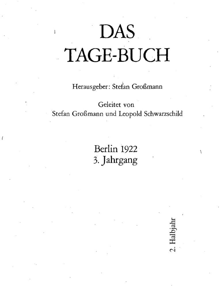 DasTage Buch 1922 2