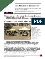 RHS Newsletter June 2015