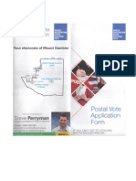 Liberal Party postal vote form