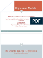 Bi Variate and Multiple Linear Regression