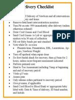 SVD Checklist