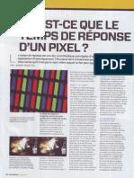 Le Temps de Reponse d'Un Pixel