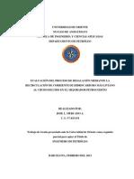 Evaluacion Del Proceso de Desalacion Mediante La Recirculacion de Corriente de Hidrocarburo Mas Liviano Al Crudo Diluido en El Mejorador Petrocedeno