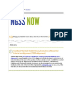June 2015 NGSS NOW