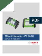 Manual de Instalação Software StartCenter Do KTS200 e KTS340