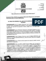 Resolucion Num. 03-2013 Del INDOCAL