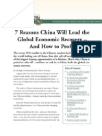 China Will Lead the Global Economic Recovery