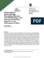 Jaffe - Rereading Markus's Marxism and Anthropolgy