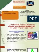 LA ADMINISTRACION DE RRHH COMO RESPNSABILIDAD DE LINEA Y Y FUNCION STAFF