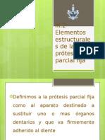 Elementos estructurales de la prótesis parcial fija