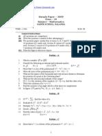 CBSE Class IX Maths Sample Paper 2009 10 (1)