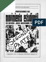 Movimiento Estudiantil en Mexico Julio Noviembre 1968 Revista ESPEJO No 6 Segunda Parte