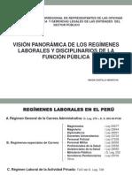 Nixon Castillo Montoya Visión Panorámica de Los Regímenes Laborales y Disciplinarios de La Función Pública