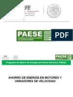 Motores y Variadores de Velocidad PAESE