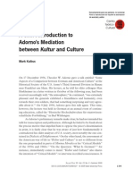 203 Kalbus a Short Introduction to Adorno's Mediation Between Kultur and Culture