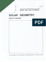 Plea Note 1 Solar Geometry