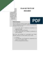 Plan de Resumen Sección 13 y 14